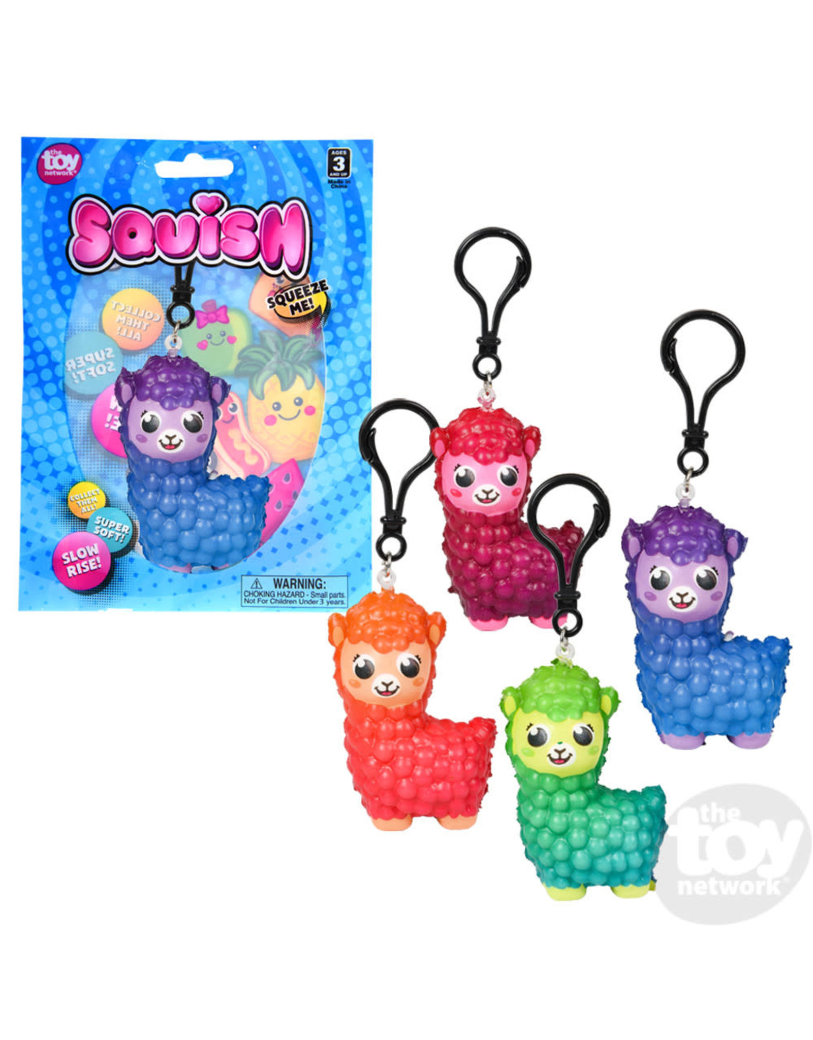 """The Toy Network Squish Alpaca Backpack Clip 3"""""""