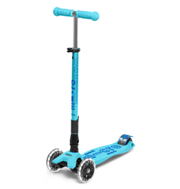 Kickboard Maxi Micro Folding Deluxe LED Kickboard, Bright Blue