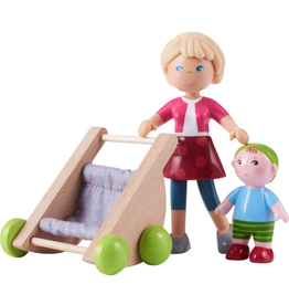 Haba Little Friends, Mama Melanie & baby Kilian w/Stroller