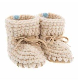 Beba Bean Sweater Moccs, Ivory