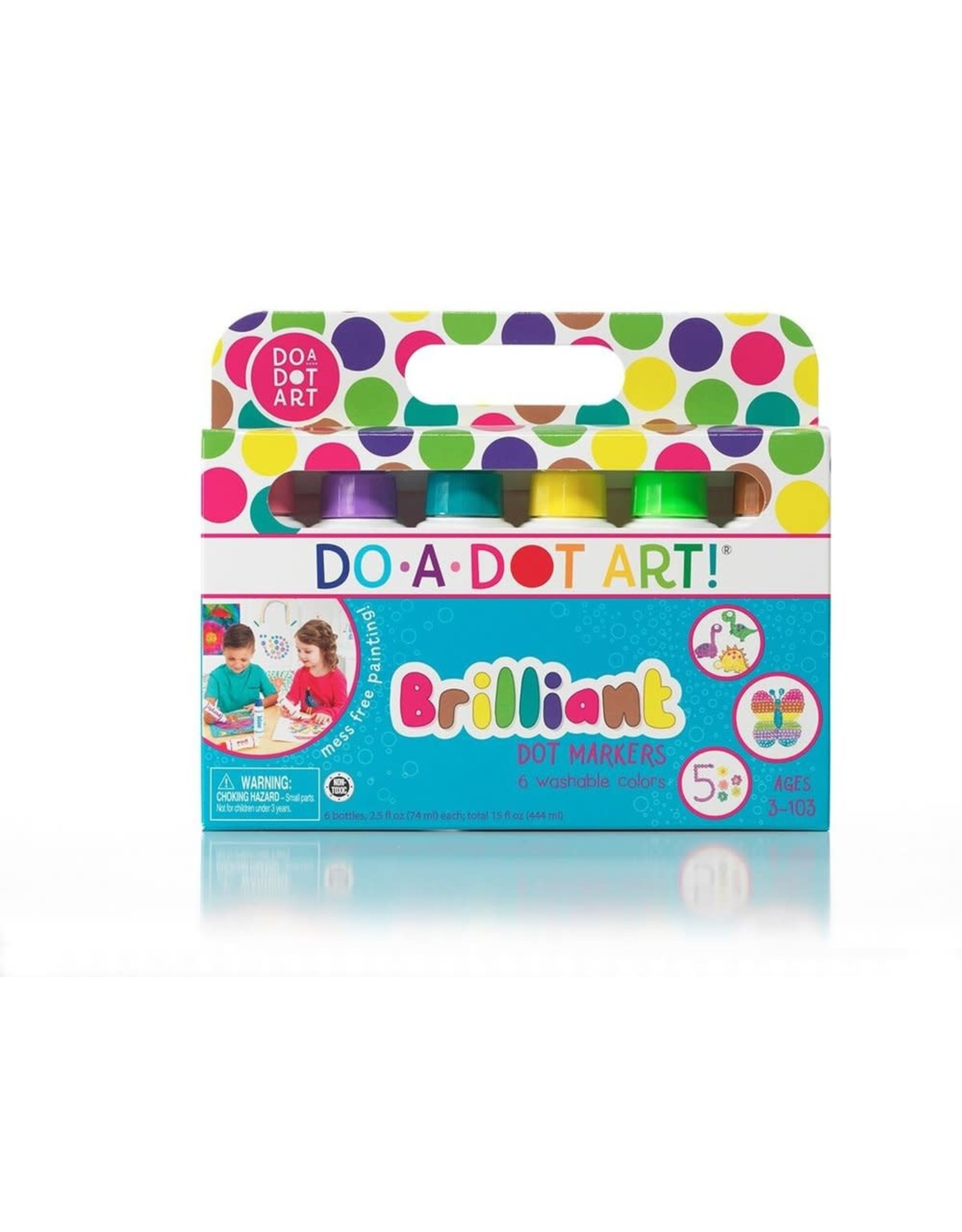 Playwell Brilliant Washable Dot Markers, 6 pk.