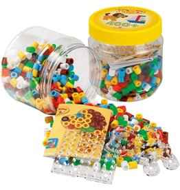 Hama Hama Maxi 400 Beads & Pegboards in Tube, Yellow
