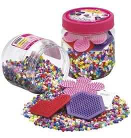 Hama Hama Maxi 400 Beads & Pegboard in Tub, Pink