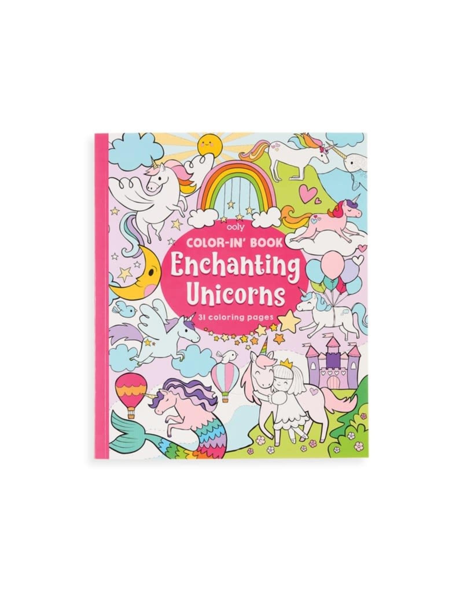 Ooly Coloring Book, Enchanting Unicorns