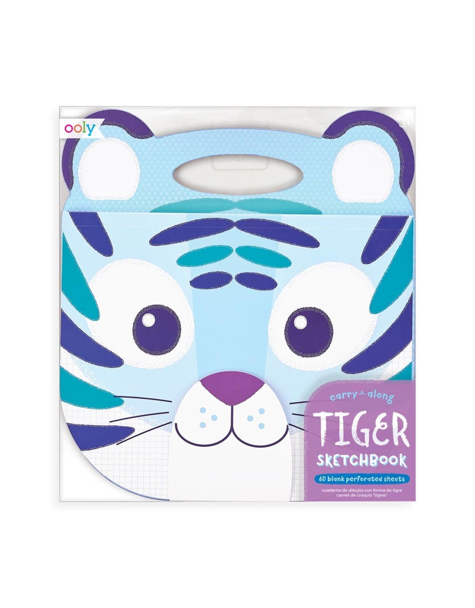 Ooly Carry Along Sketchbook, Tiger