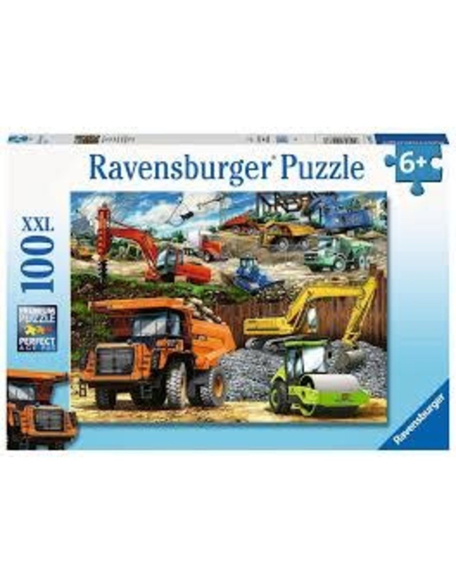 Ravensburger 100 pcs. Construction Trucks Puzzle