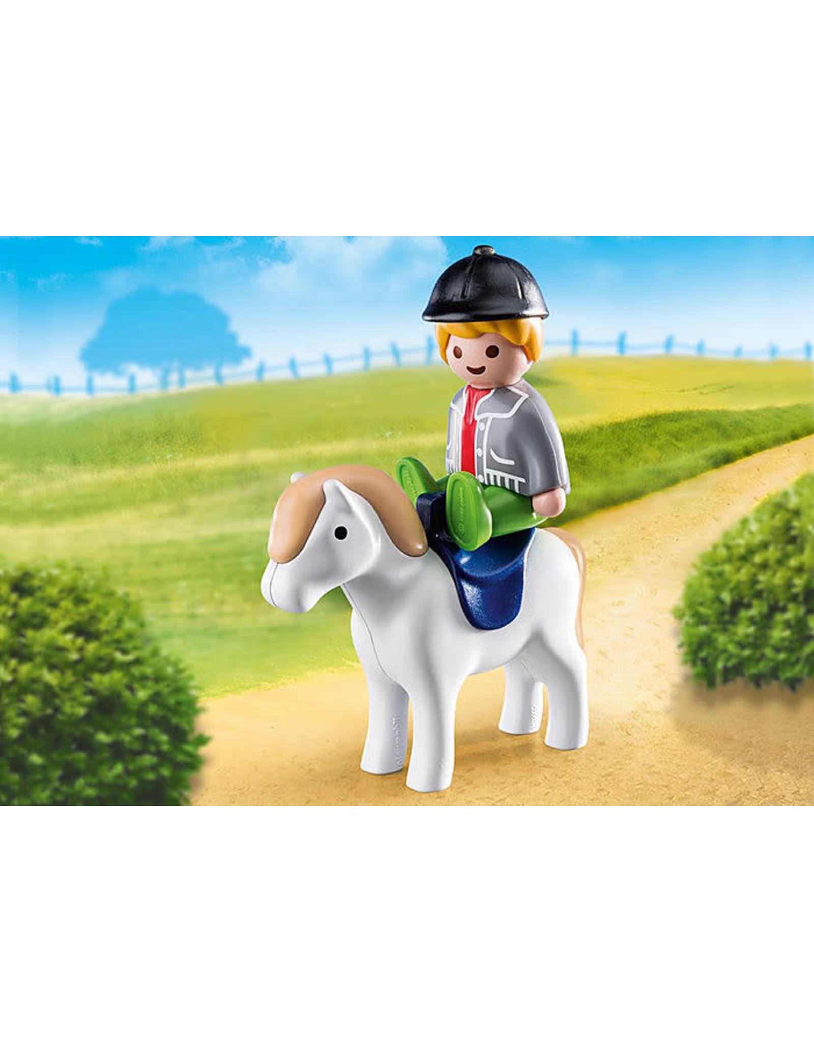 Playmobil 1.2.3 Boy With Pony