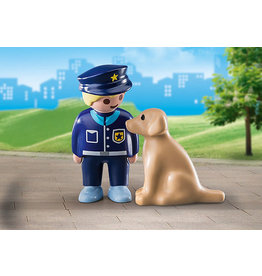 Playmobil 1.2.3 Police Officer With Dog