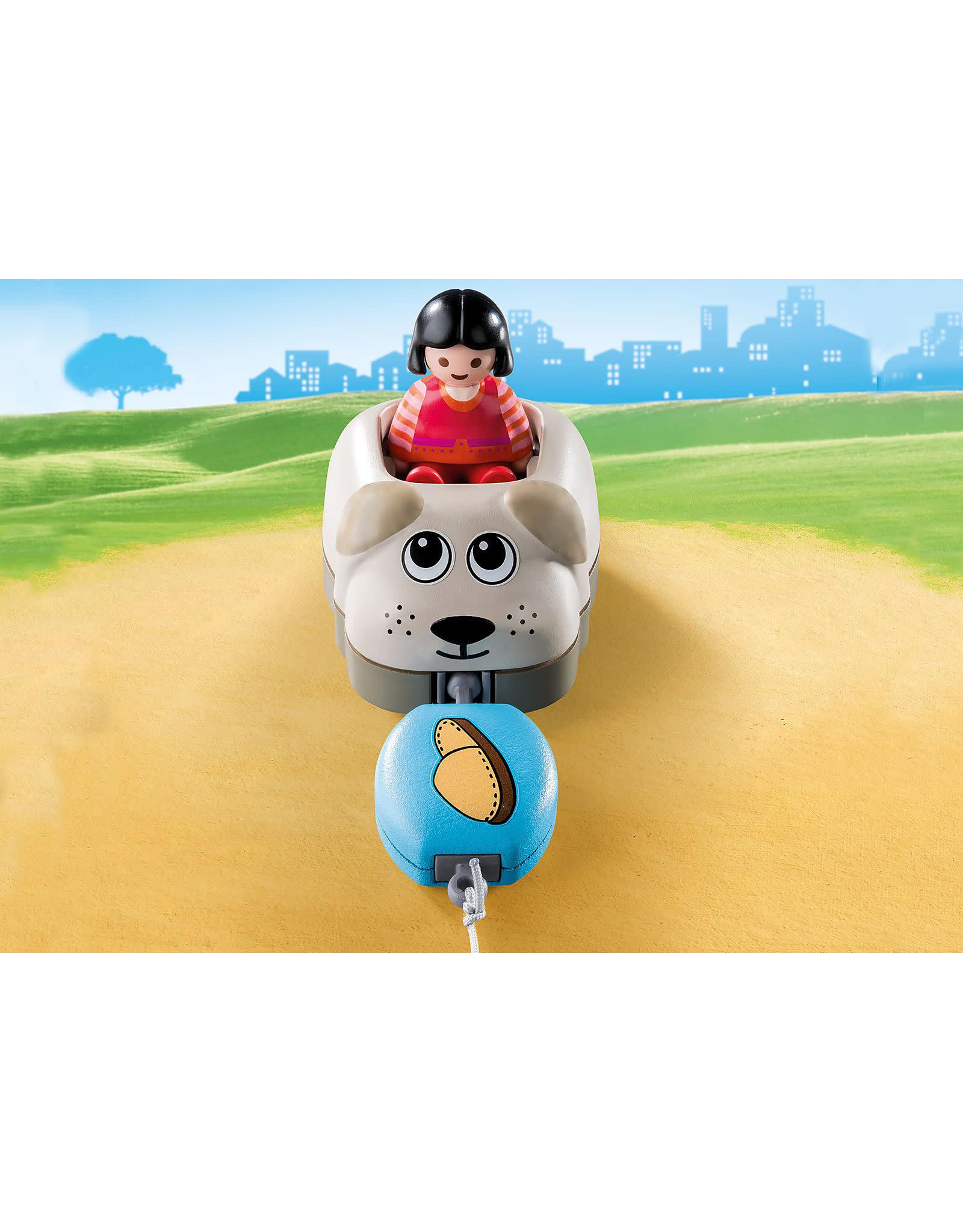 Playmobil 1.2.3 Dog Train Car