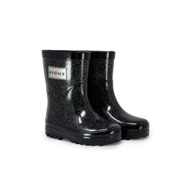 Stonz Stonz Rain Bootz, Black Glitter