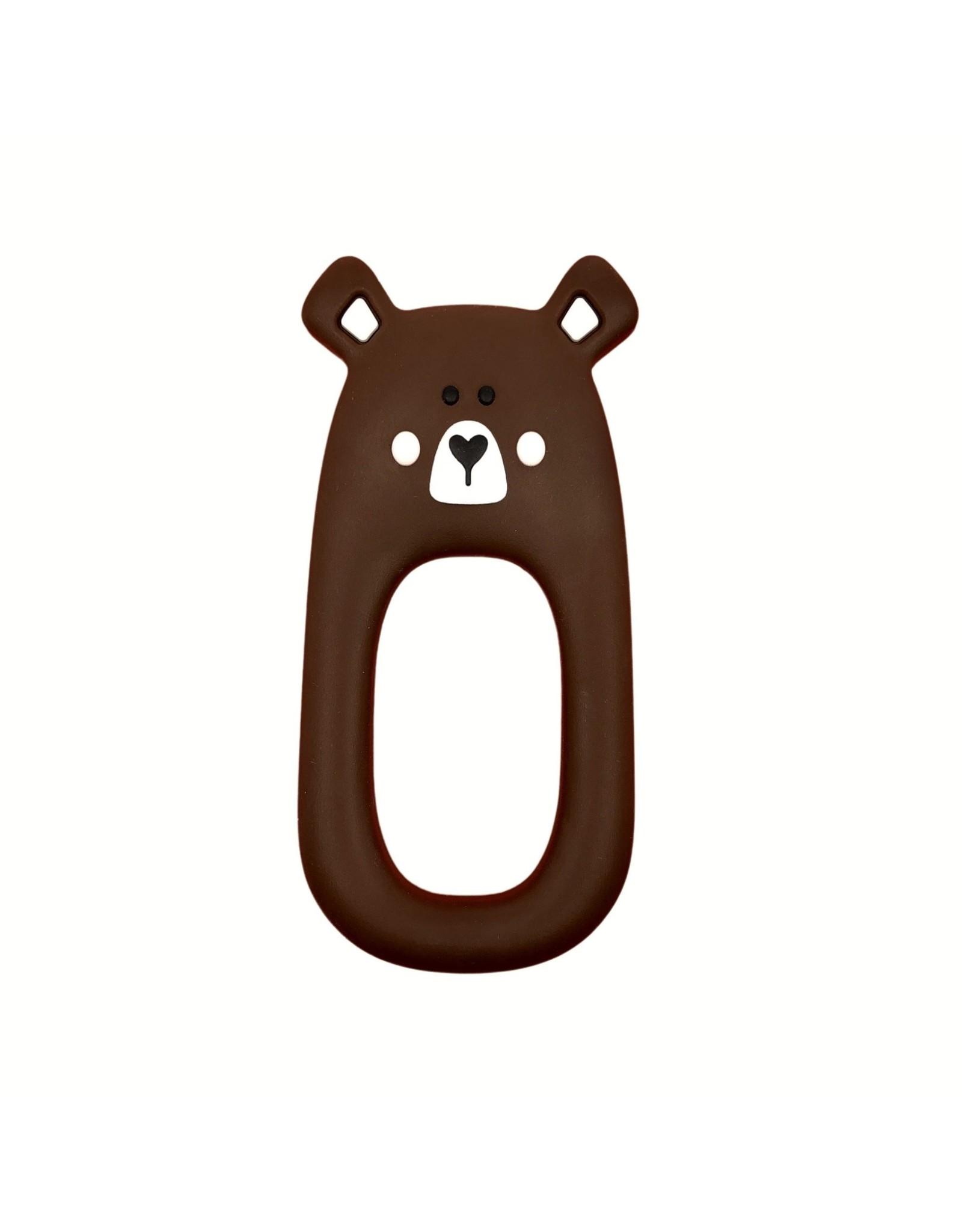 Little Cheeks Bear Teether, Brown