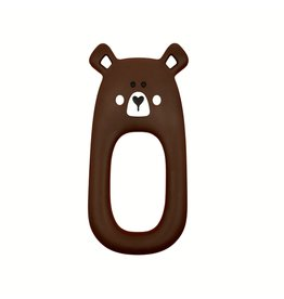 Little Cheeks Bear Teether, Brown