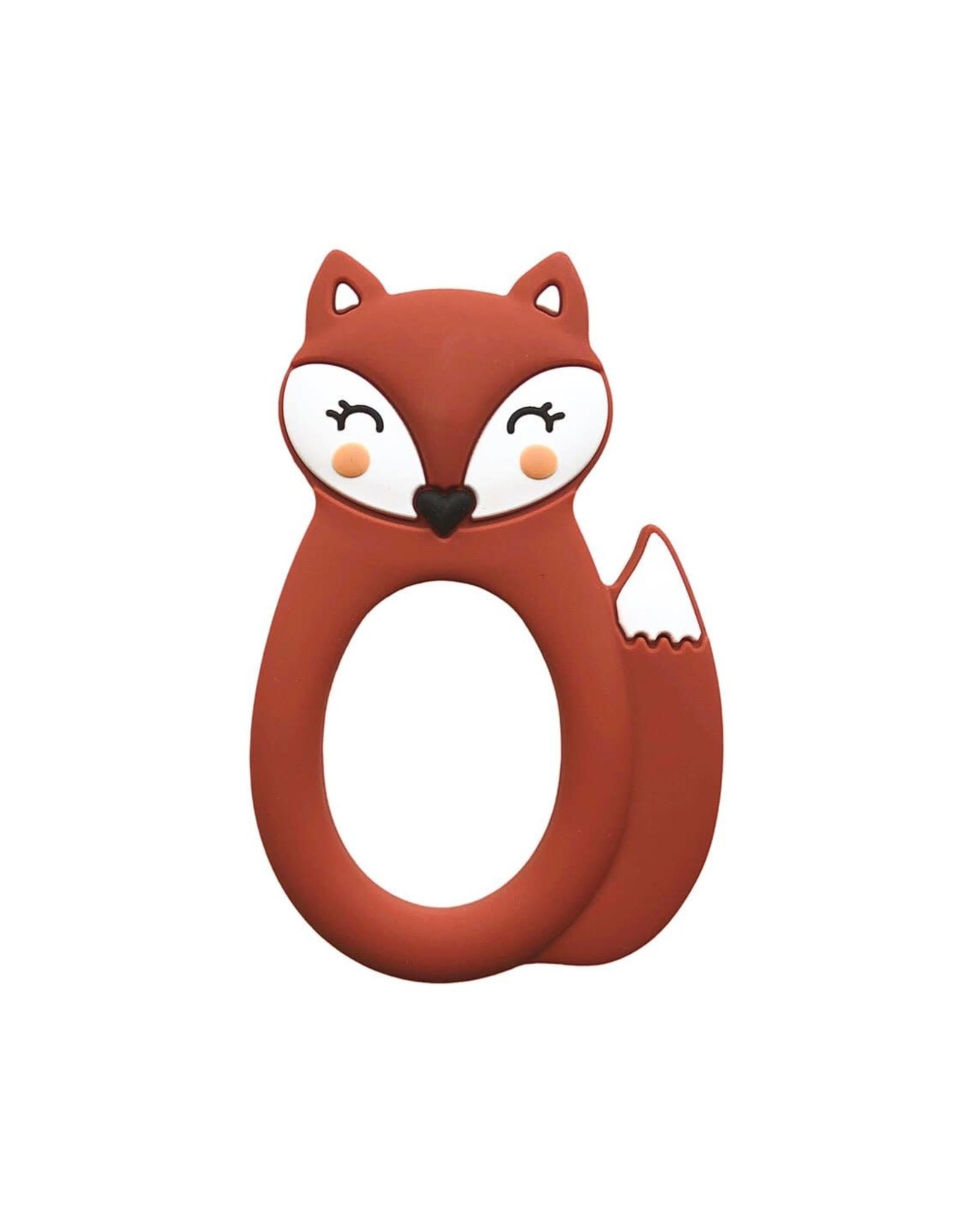 Little Cheeks Fox Teether, Rust