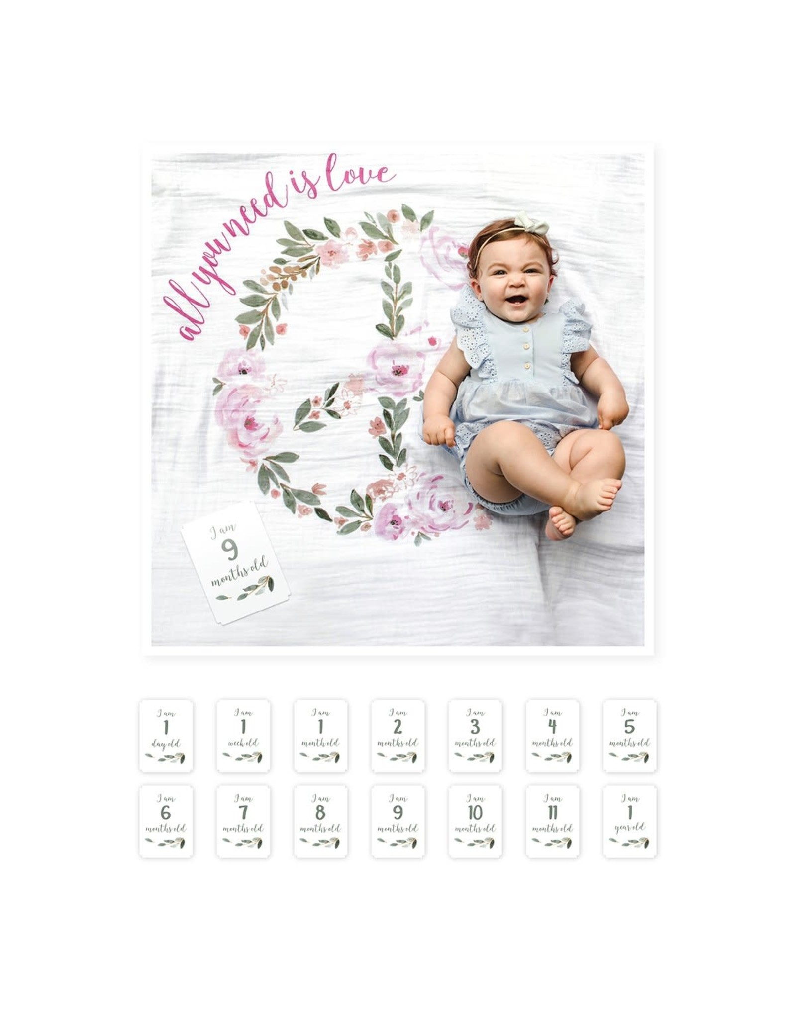 Lulujo Baby Baby's First Year Set, All You Need Is Love
