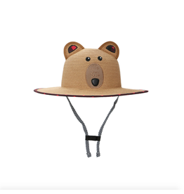 FlapJackKids Straw Hat Bear, Medium