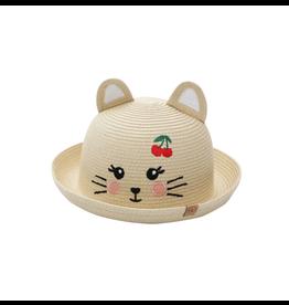 FlapJackKids Straw Hat Cat, Medium