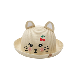FlapJackKids Straw Hat Cat, Large