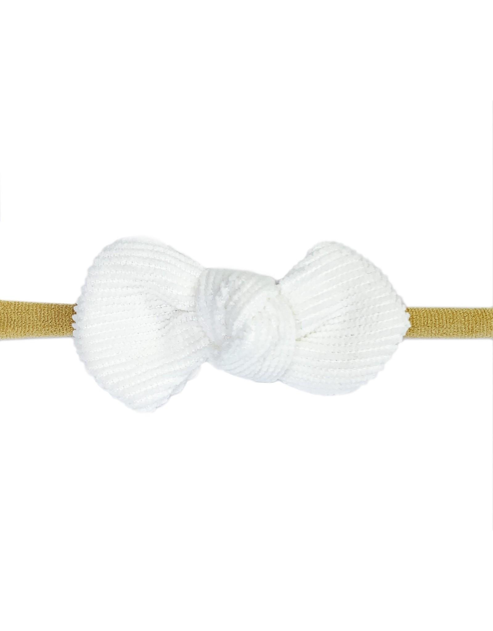 Baby Wisp Babywisp Headband Corduroy Knot, White