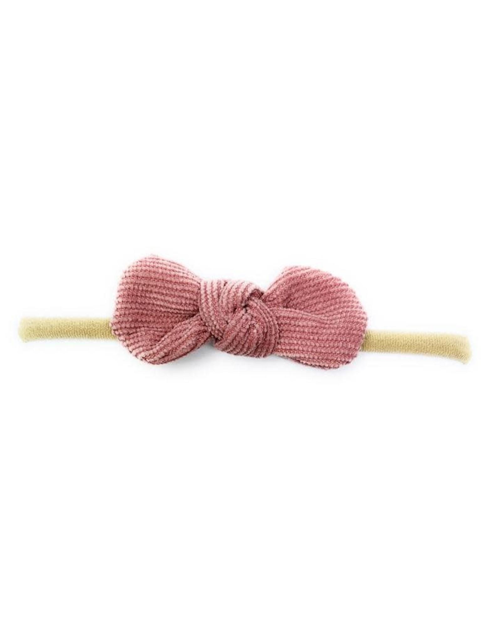 Baby Wisp Babywisp Headband Corduroy Knot, Dusty Rose