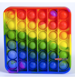 Watchitude Pop'd Silicone Mat, Rainbow Square