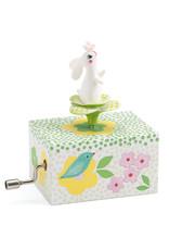 Djeco Hand Crank Music Box, Rabbit in the Garden