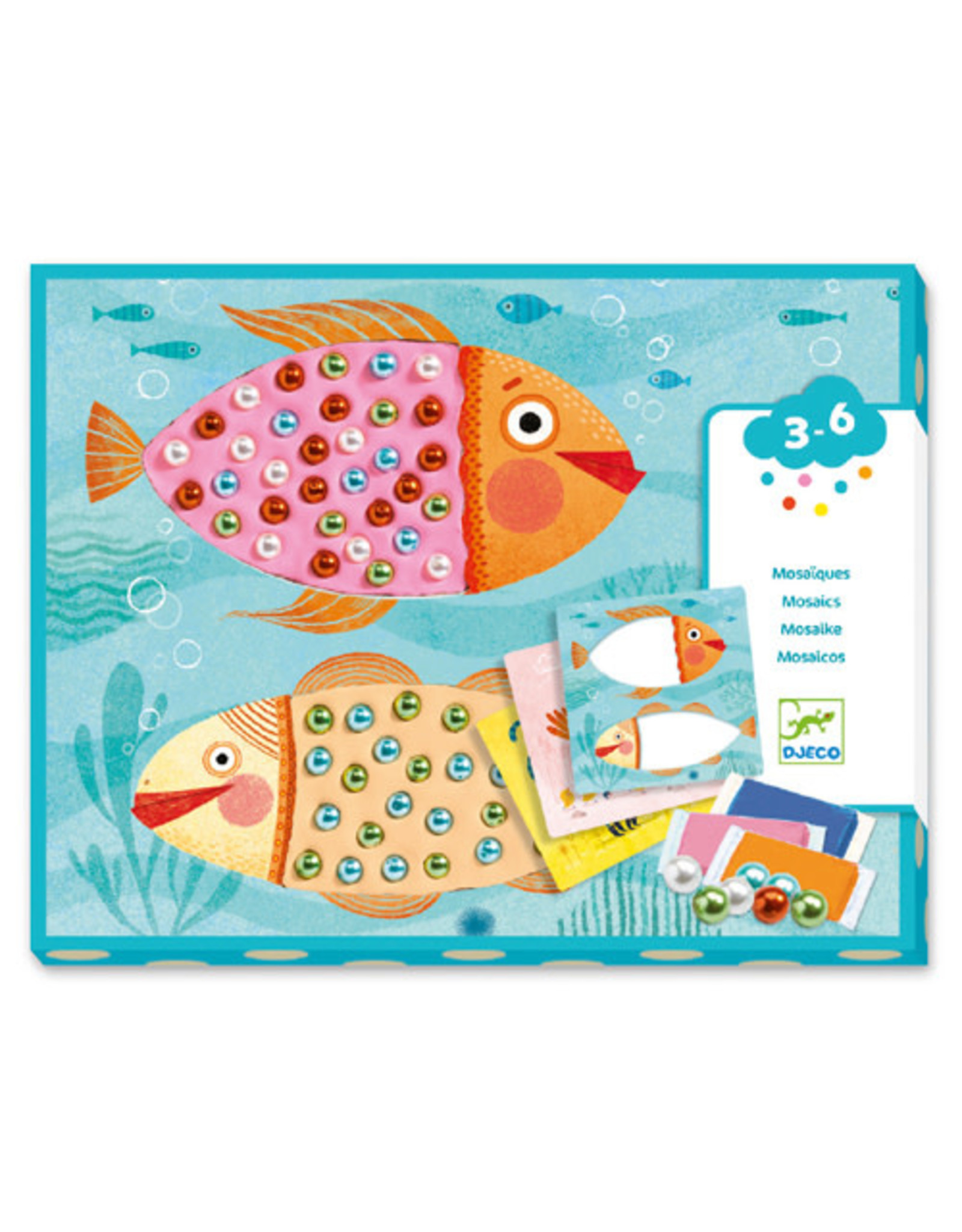 Djeco Collages for Little Ones, Bead Mosaics
