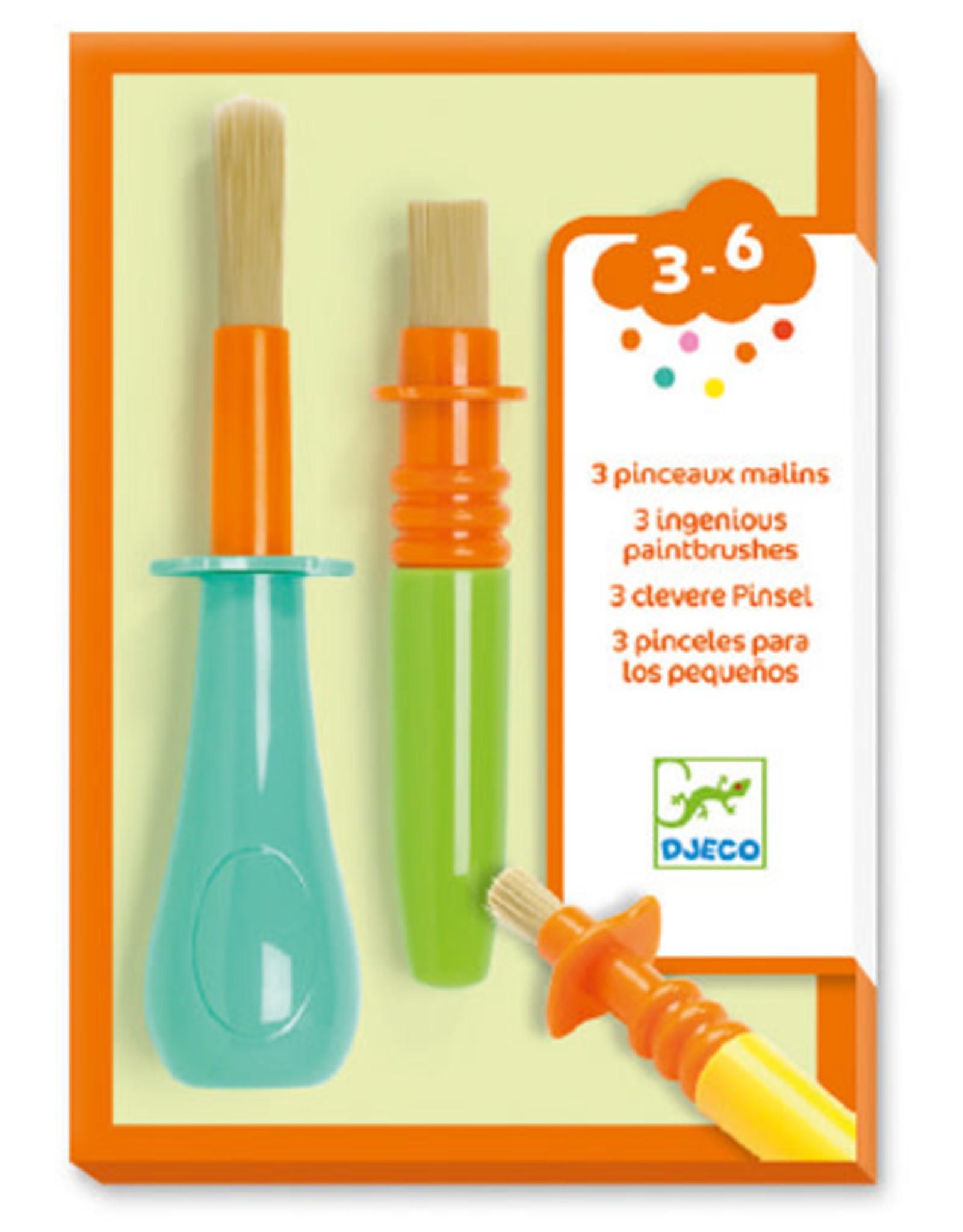 Djeco 3 Ingenious Paintbrushes