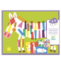 Djeco Stickers, Large Animals