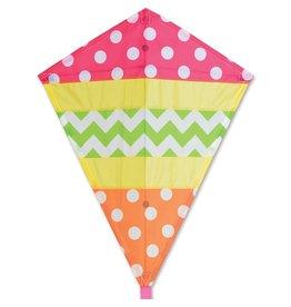 """Premier Kites 25"""" Diamond Kite, Cheerful"""
