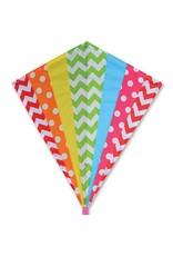 """Premier Kites 30"""" Diamond Kite, Hip Rainbow"""