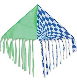 Premier Kites Fringe Delta, Green/Blue Kite