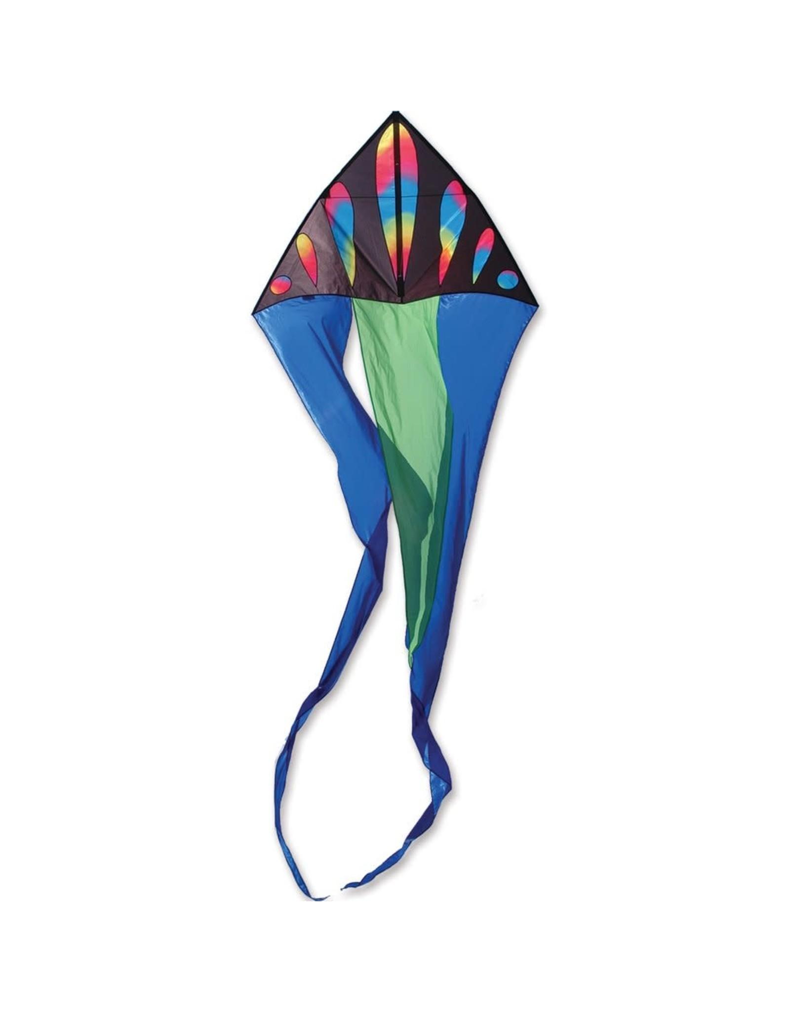 Premier Kites 56 in. Flo-Tail Kite, Wavy Bullets