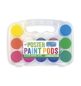 Ooly Lil Paint Pods Poster Paint, 12 Classic