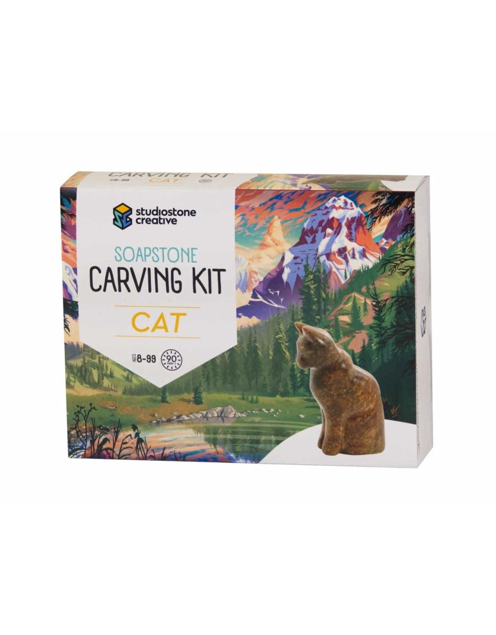 Studiostone Creative Cat Soapstone Carving Kit