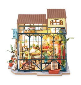 Hands Craft Flower Shop DIY Miniature Dollhouse Kit