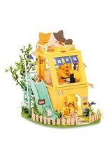 Hands Craft Cat House DIY Miniature Dollhouse Kit