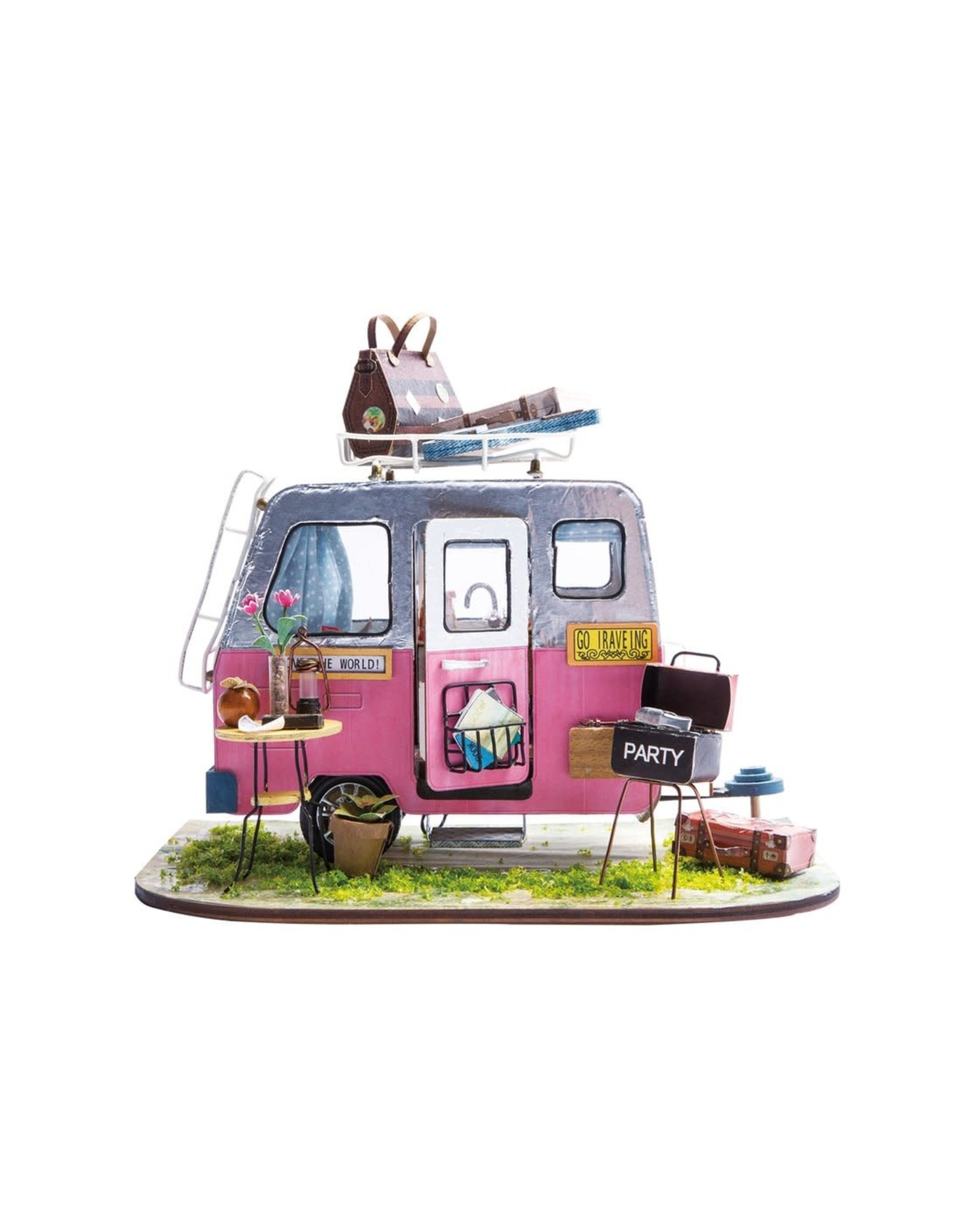 Hands Craft Happy Camper DIY Miniature Dollhouse Kit