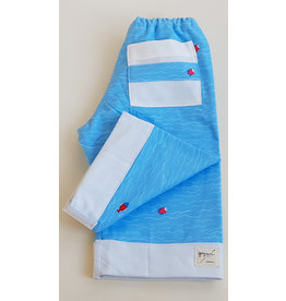 Georgi Pearson Quilty Pants, Blue with Fish