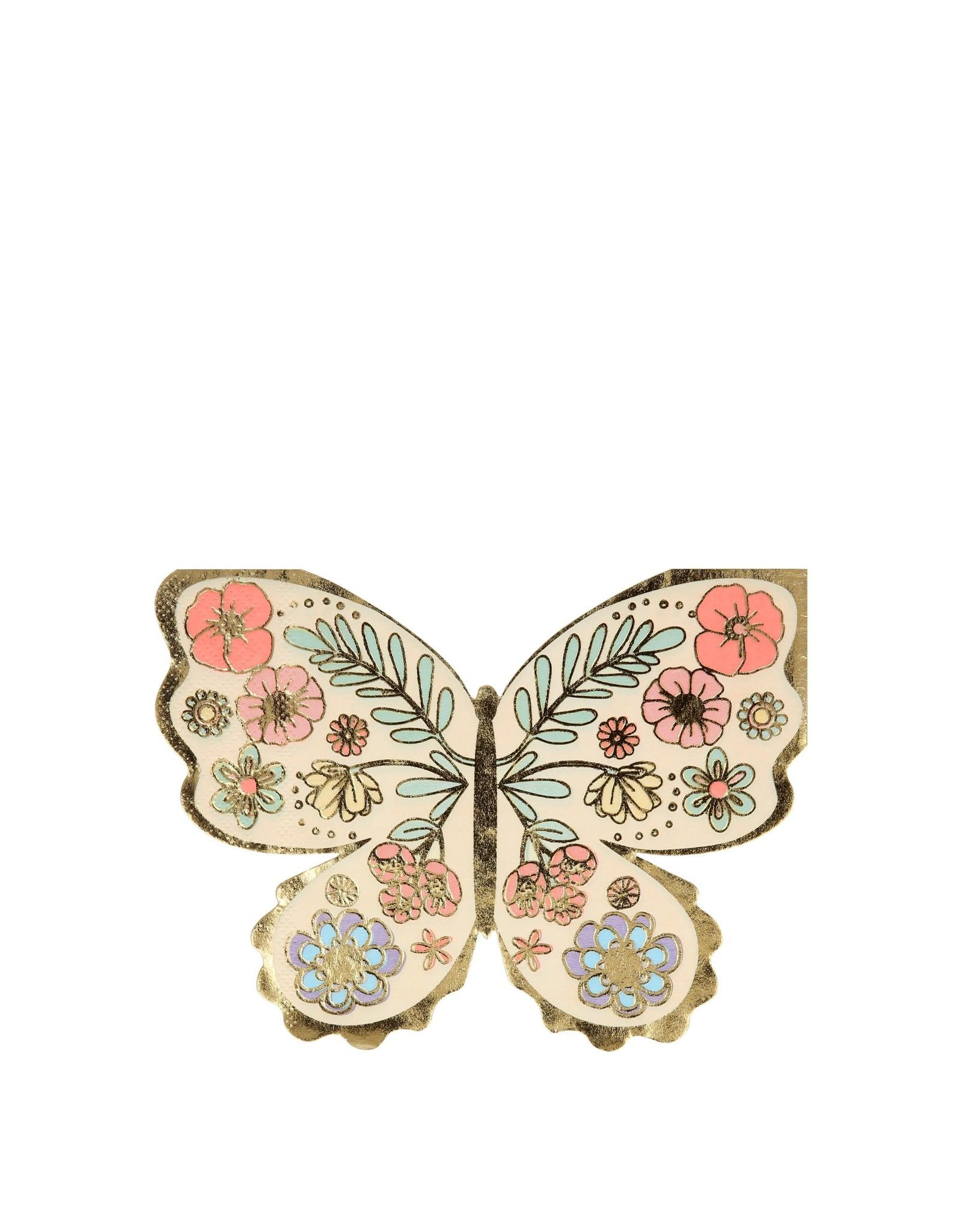 Meri Meri Floral Butterfly Napkins