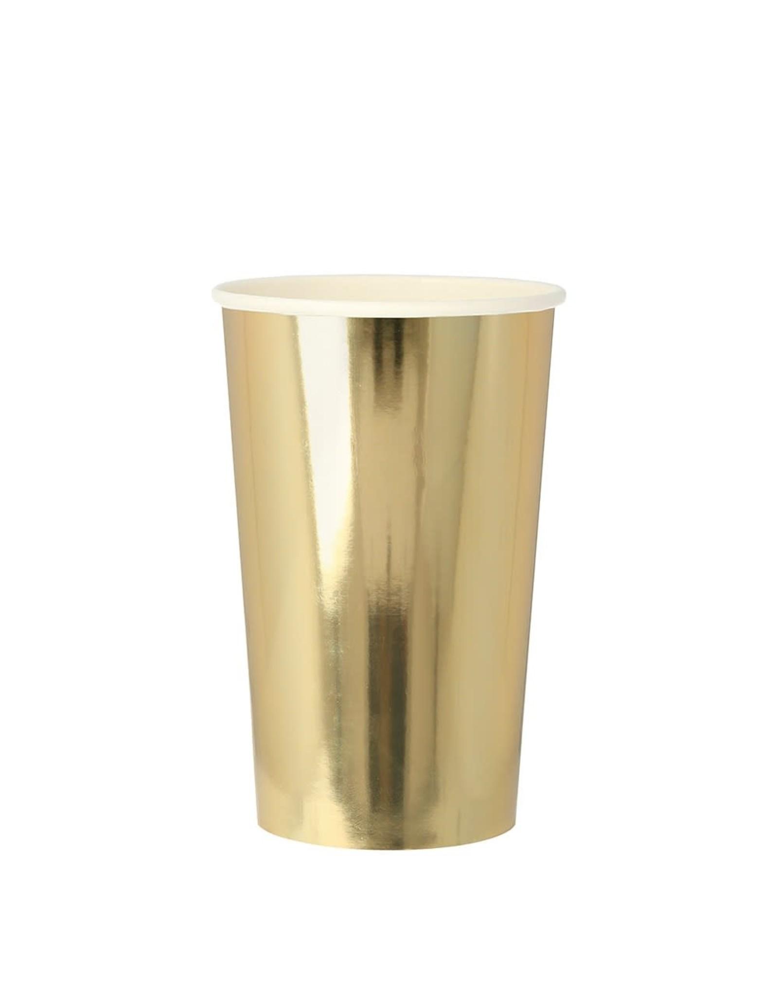 Meri Meri Gold Highball Cups, Large
