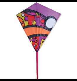 "Premier Kites 30"" Diamond Kite, Warm Orbit"