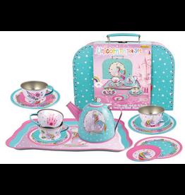 Playwell Unicorn Tin Tea Set In Carry Case