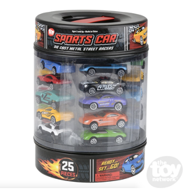 The Toy Network Die-Cast Car Set in Tire Carrying Tub