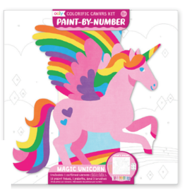 Ooly Colourific Canvas Kit Paint By Number, Magic Unicorn