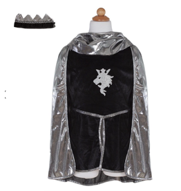 Great Pretenders Silver Knight With Tunic Cape & Gown, Size 5-6