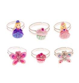Great Pretenders Princess, Cupcake & Butterfly Rings Assortment