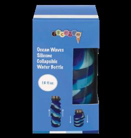 Iscream Ocean Waves Collapsible Water Bottle