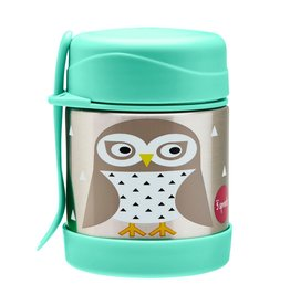 3 Sprouts Stainless Steel Food Jar, Owl