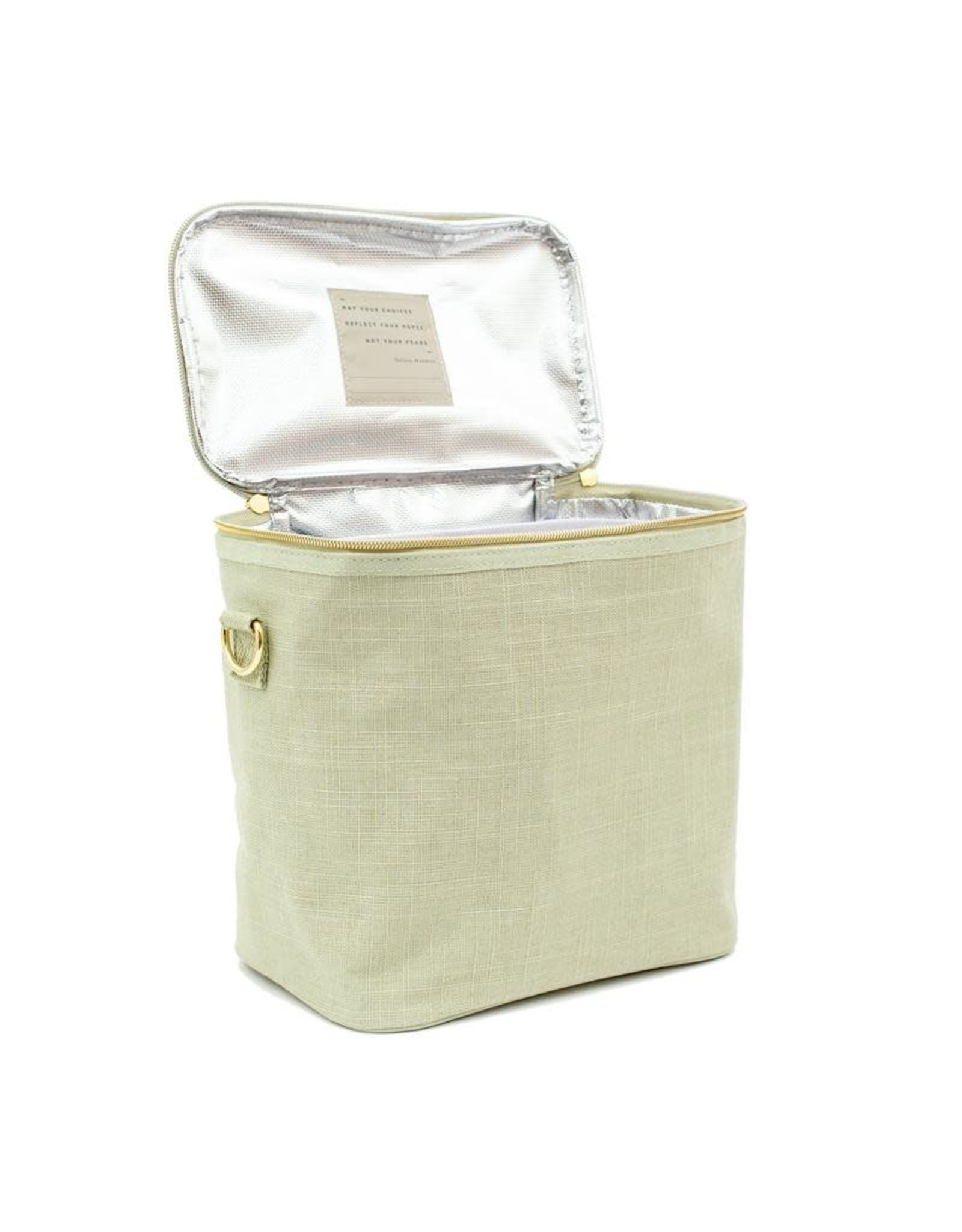 So Young Linen Lunch Poche, Sage Green