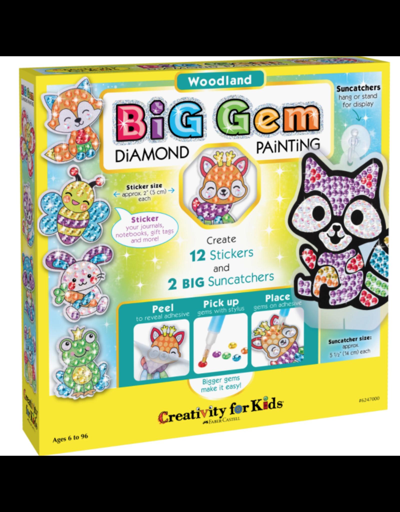 Creativity For Kids Big Gem Diamond Painting, Woodland Creatures